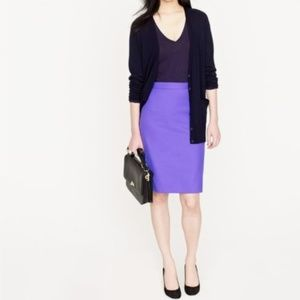 J.Crew Pencil Skirt In Double-Serge Cotton
